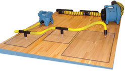 RESCUE MAT SYSTEM FOR WATER DAMAGED HARDWOOD