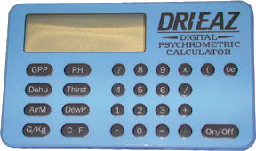 Digital Psychrometric/Dehumidifier Calculator
