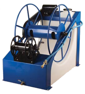 THE WATER POND - Electric Hose Reel w 120 gal water tank